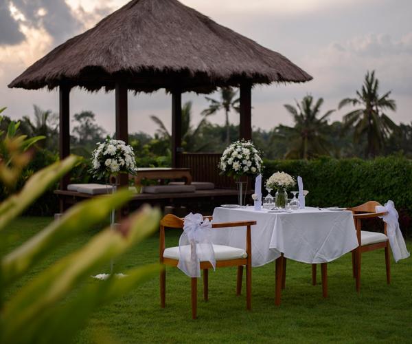 romantic garden dinner